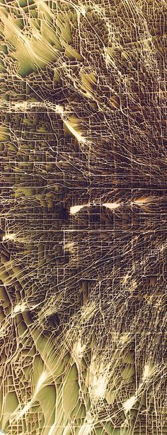 Flowing City Map Chaotic atmospheres