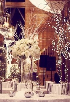 tall white wedding flowers