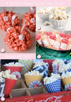Fun ideas for popcorn favors & how to package them