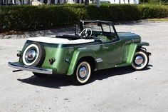 1950 Willys Jeepster for sale - Hemmings Motor News Willys Wagon, Jeep Willys, Hot Rod Trucks, Old Trucks, Retro Cars, Vintage Cars, Jeepster Commando, Green Cars, Jeep Truck
