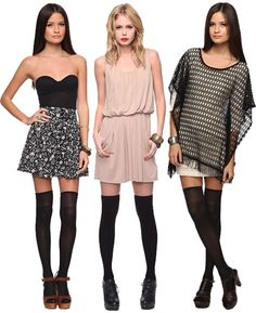 Outfits with thigh high tights
