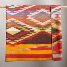 Creekside Throw A wool and cotton Pendleton throw blanket, replicating the pattern of a Native American rug from Robert Redford's personal collection that hangs in the Creekside Building at Sundance Resort. Pendleton Throw, Pendleton Woolen Mills, Pendelton Blankets, Native American Rugs, American Quilt, Wool Blanket, Screen Printing, Weaving, Tapestry