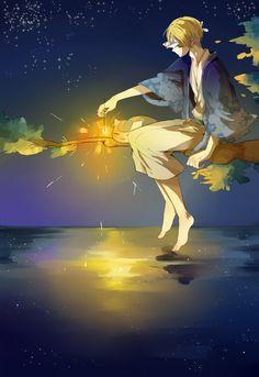Natsume Yuujinchou - Natsume and Nyanko-sensei Anime Love, Anime Guys, Manga Art, Manga Anime, Anime Art, Natsume Takashi, Hotarubi No Mori, Culture Art, The Ancient Magus Bride