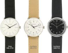 max bill manual wrist watch