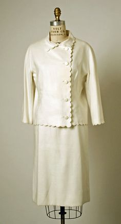 Suit House of Balenciaga (French, founded 1937) Date: 1966 Medium: linen. Worn by the ultra fab Mona von Bismarck.