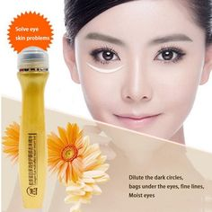Wrinkle Anti-Puffiness Dark Circle Anti-Aging Eye Essence Gold Activating Gold Roll Ball Eye Cream