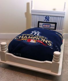 Upcycled Pet Bed New York Yankees by UpcycledStuff on Etsy, $175.00