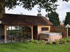 Backyard Pavilion, Backyard Gazebo, Backyard Seating, Backyard Landscaping, Pergola, Cosy Garden Ideas, Country Pool, Sauna House, Patio Makeover
