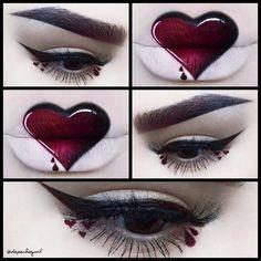 """'V' Day - Bleeding Heart ❤️ @lasplashcosmetics Malevolent Liquid Matte Lipstick and Raven Claw Lip Tint. @limecrimemakeup Red Velvet Velvetine and…"""
