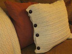 Sweater pillow...