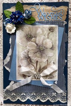 Welcome to Megs and the Lovely VJC,cards Velvet Ribbon, Welcome, I Card, Paper Flowers, Garden, Pretty, Garten, Lawn And Garden, Gardens