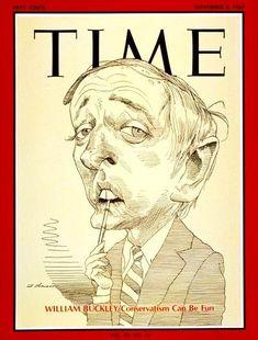 Time Magazine William F. Buckley Caricature