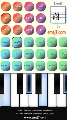 View and listen to chords on the virtual piano keyboard with their notes. All Chords from to to Bb Keyboard, Piano, Bb, Notes, Music, Report Cards, Computer Keyboard, Pianos