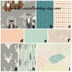 Custom Crib Bedding You Design   Bumper and Bedskirt Hello night in fog