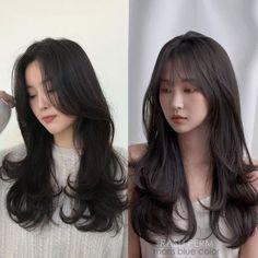 Long Hair With Bangs, Very Long Hair, Long Hair Cuts, Long Hairstyles With Bangs, Round Face Long Hair, Black Wedding Hairstyles, Hair Bangs, Long Curly Hair, Korean Hairstyle Long