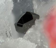 Hatchite - Lengenbach Quarry, Fäld, Binn Valley, Wallis, Switzerland FOV : 3 mm