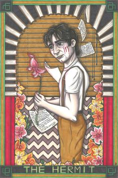 Twin Peaks Tarot Harold Smith postcard PRINT. £1.89, via Etsy.