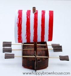 Viking Ship Craft for Kids