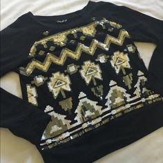 Wallflower Sequin sweater like new Tops