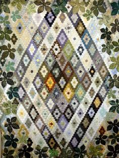 2010 Tokyo Quilt Festival.   Small hexagons shaped into diamonds.