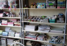 My Craftroom! #craftroom  #scraproom #crafts #organizing