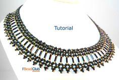 Bugle Bead Collar Pattern Seed Bead Necklace Pattern | Etsy Seed Bead Bracelets Tutorials, Beaded Bracelets Tutorial, Beading Tutorials, Beaded Necklace Patterns, Seed Bead Patterns, Beading Patterns, Beaded Jewelry, Bugle Beads, Seed Beads