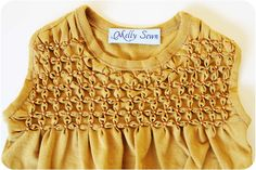 Melly Sews: Flower Smocking Tutorial...I think it would also be really pretty as a pillow front