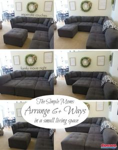 """Ginny from The Simple Moms: """"I walked in Costco and there it was! In my head there angels singing and a spotlight on the couch. Cozy Living Rooms, Home Living Room, Apartment Living, Living Room Designs, Living Room Furniture, Living Room Decor, Apartment Couches, Apartment Hacks, Dining Room"""