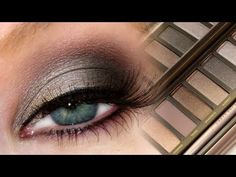 Smokey eye using UD's Naked2, to do this use: - Tease in the crease, - Pistol on the inner half of the lid, - Blackout on the outer half of lid and lower lash line - Busted is below the crease, - Foxy to blend at the brow