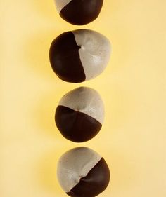 Chocolate-Dipped Espresso Meringues | Satisfy your sweet tooth during the holiday with these flourless treats.