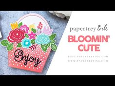 This week's Saturday Showcase is all about Bloomin' Cute stamp set and coordinating dies. Watch Ashley's creative process as she shares how to make a shaped . Shaped Cards, Card Tags, Gift Packaging, Unique Colors, Diy Cards, Floral Arrangements, Card Making, Bloom, Paper Crafts