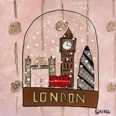 London Snow Globe, Brian Nash #AmazonArt #wintertravels