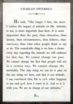 Charles Swindoll Quote Vintage Framed Art Print