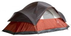 Coleman Red Canyon by Modified Dome Tent - BIG Coleman Red Canyon Cabin Tent, SAVE BIG! A big 17 x floor, to sleep up to 8 people. this Red Canyon is the Grand Canyon of Tents! Made Coleman right, f Best Family Camping Tents, Tent Camping, Camping Gear, Camping Store, Camping Equipment, Glamping, Group Camping, Camping Cabins, Camping Jokes