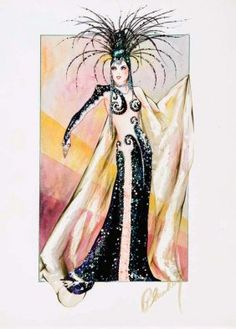 Walter Plunkett costume sketch for Mae West from The Heat's On