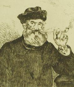 The Smoker, Edouard Manet - plakat - Galeria Plakatu Edouard Manet, Pierre Auguste Renoir, Francisco Goya, Richard Diebenkorn, Joan Mitchell, Camille Pissarro, Paul Cezanne, Mark Rothko, Still Life Photography