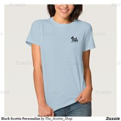 Black Scottie Personalize Polo Shirt