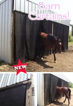 NEW! A must-have for every horse owner this fly season! This livestock curtain is the perfect solution to help combat bugs and also acts as a sun screen. Can be fitted to barn doors, run-in sheds, etc.