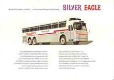 Bus Stop Classic: Eagle Coaches – From Belgium to Brownsville Caterpillar Engines, Detroit Diesel, Car Museum, Air Ride, Silver Eagles, Busses, Bus Stop, Rolls Royce, Transportation