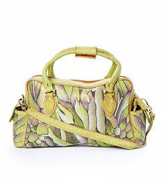 Look at this #zulilyfind! Magnifique Bags Green Van Gogh Leather Satchel by Magnifique Bags #zulilyfinds