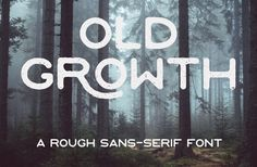 OLD GROW : A Rough Sans Serif Free Font