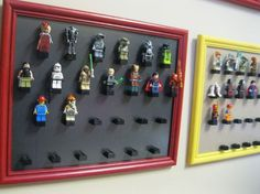 What a great idea for storing and displaying #LEGO #upcycled frames