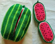 Hey, I found this really awesome Etsy listing at https://www.etsy.com/listing/180812712/peelable-watermelon-crochet         Peelable Watermelon! Crochet pattern for ecofriendly play food!