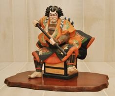 REDUCED...  Kabuki Actor  Japanese Terracotta by DLDowns on Etsy, $1020.00