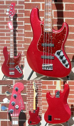 Bass guitar. Love the color.
