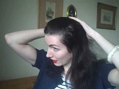 Victory Curls/Rolls for long hair. Vintage Hair