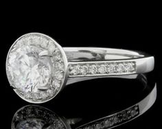 1.32ct Halo Diamond Ring HD015