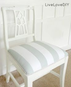 Decor DIY :: How To Reupholster: 10 Tutorials to Update or Transform Old Chairs