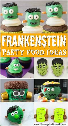 Are you looking for the best Kids Halloween Party food ideas? Well here are some amazing Frankenstei Halloween Finger Foods, Halloween Themed Food, Halloween Buffet, Halloween Party Treats, Halloween Kids, Bride Cupcakes, Fun Cupcakes, Kids Party Snacks, Best Party Food