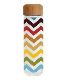 Look at this Festive Chevron Glass 20-Oz. Water Bottle on #zulily today!
